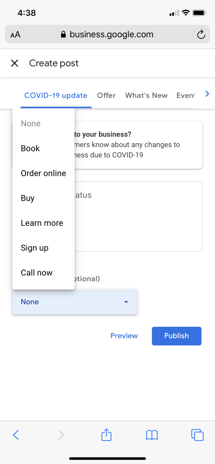 Call Now Button Disappeared on Google Posts Mobile ...