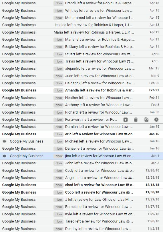 email notifications of prior reviews.JPG