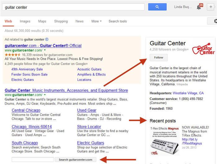 Google+ Widget Showing up Right in Google SERPs Sidebar