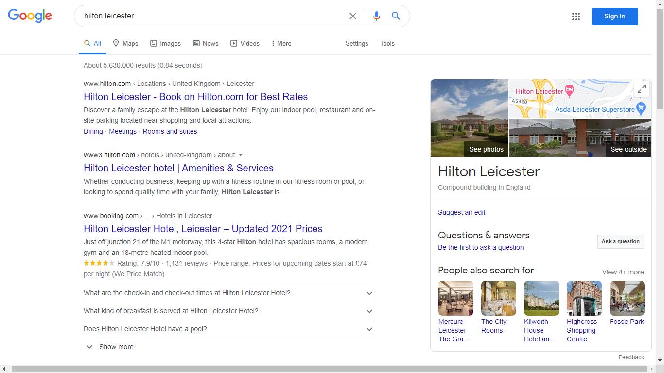 Hilton Leicester - KG Result.png