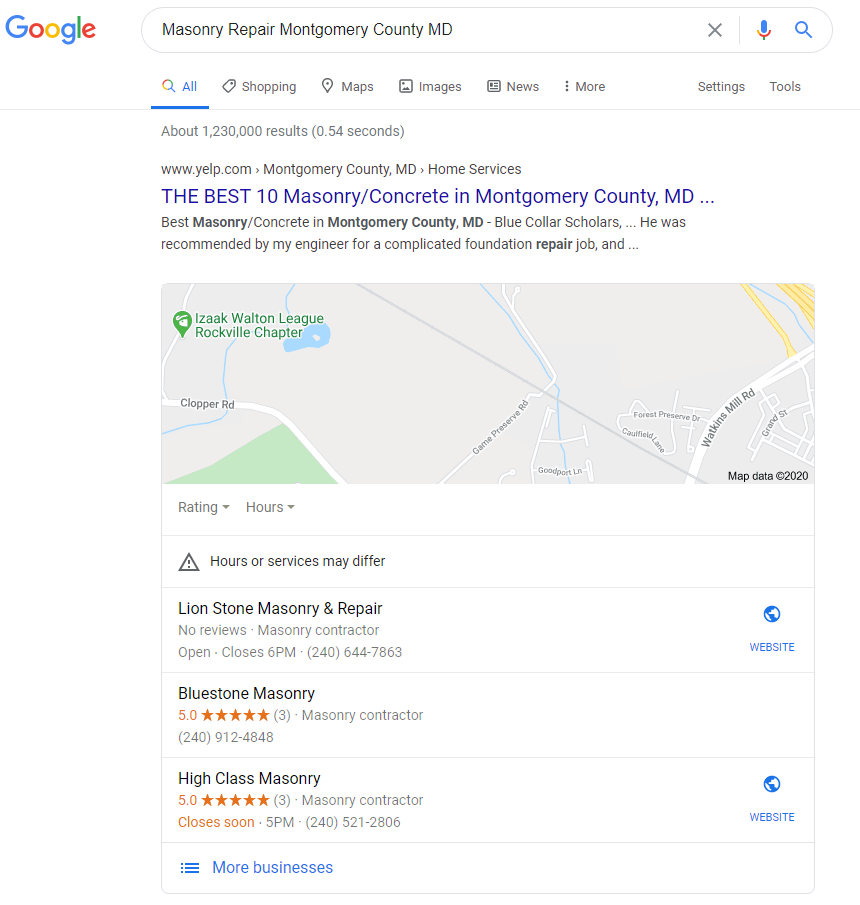 Masonry Repair Montgomery County MD - Maps after position 1.PNG