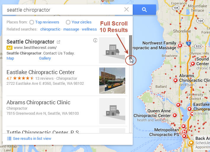 New Google Maps - Ranking Order List View is Back! - Local Search Forum