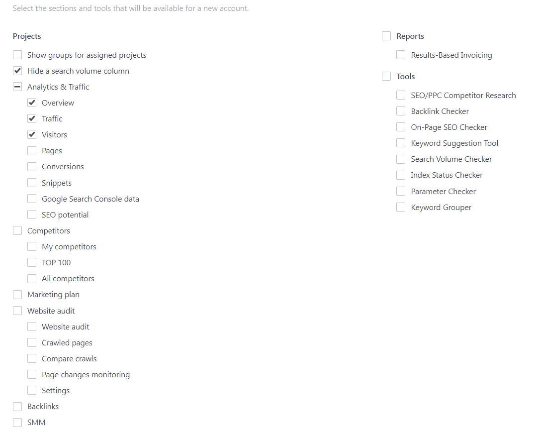 SE Ranking user sections access.PNG