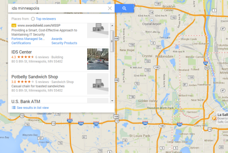 New Google Maps - Ranking Order List View is Back!