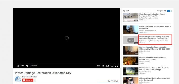 Google Description Hijacked - youtube video  - Local Search